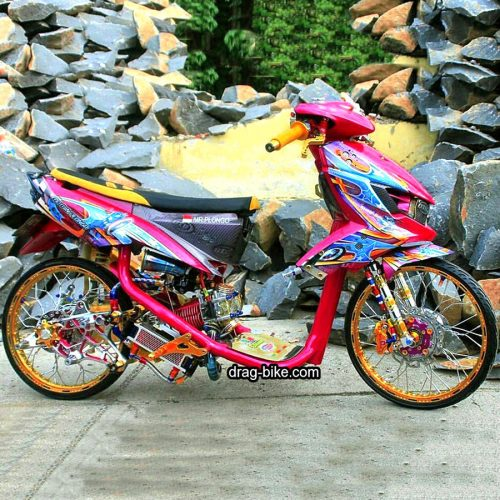 Modifikasi MIO SOUL GT Thailook Airbrush Drag Racing Velg 17