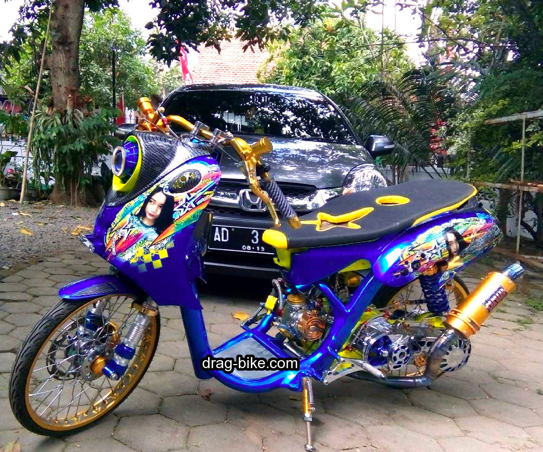 Modifikasi Motor Drag Mio Fino