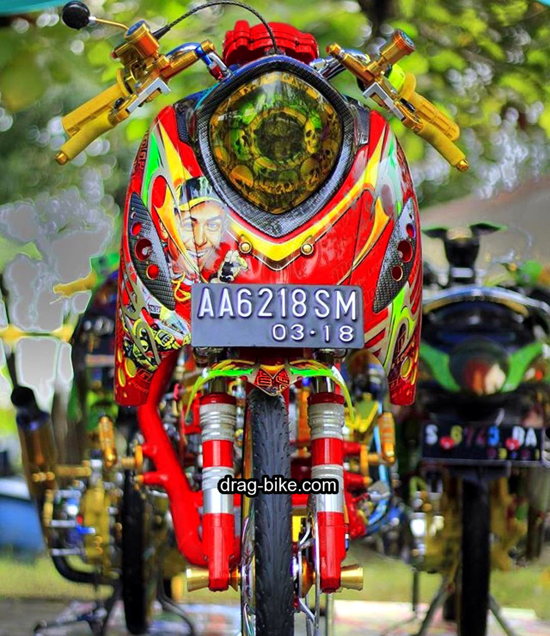 Modifikasi Motor Fino 125 Premium Air brush