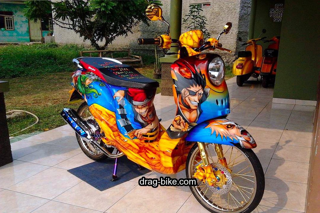 Modifikasi Motor Fino Airbrush Full