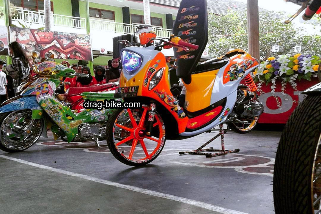Modifikasi Motor Fino Sporty