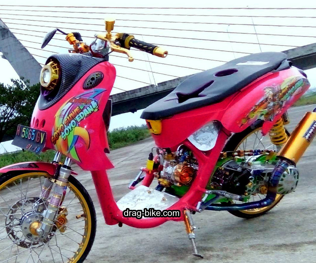 Modifikasi Motor Mio Fino Thailook