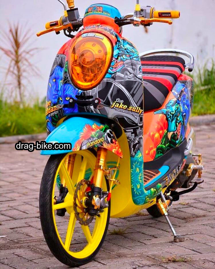 Modifikasi Scoopy Simple Airbrush