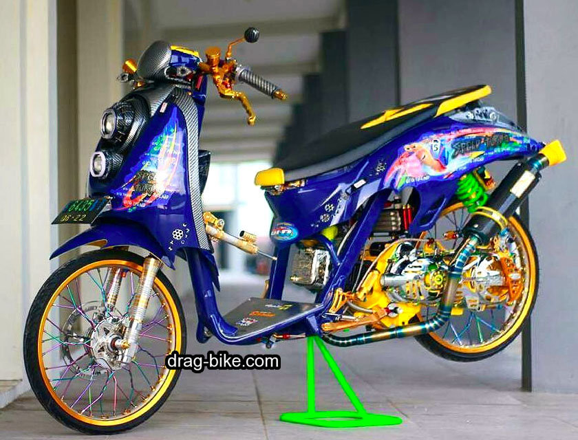 Modifikasi Stiker Scoopy