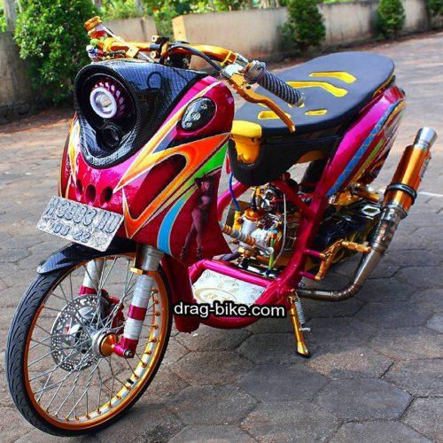 Modifikasi motor FINO Thailook Style Simple Classic Velg 17