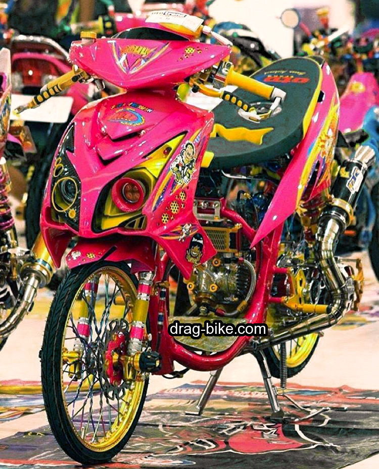 35 Foto Gambar Modifikasi Mio Soul Gt Thailook Airbrush Drag Racing
