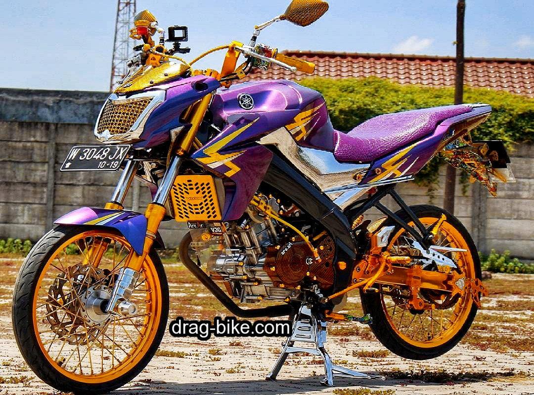 51 Foto Gambar Modifikasi Motor Vixion Keren Terbaik Kontes Drag