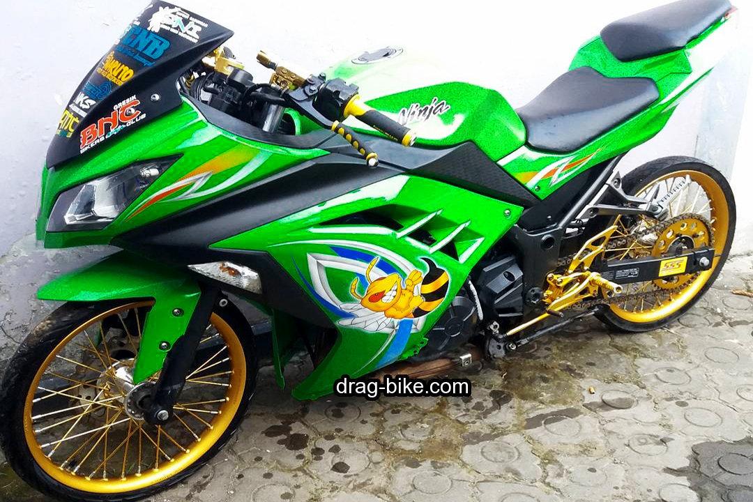 Motor Drag Ninja Modifikasi Sepeda Gambar Mobil