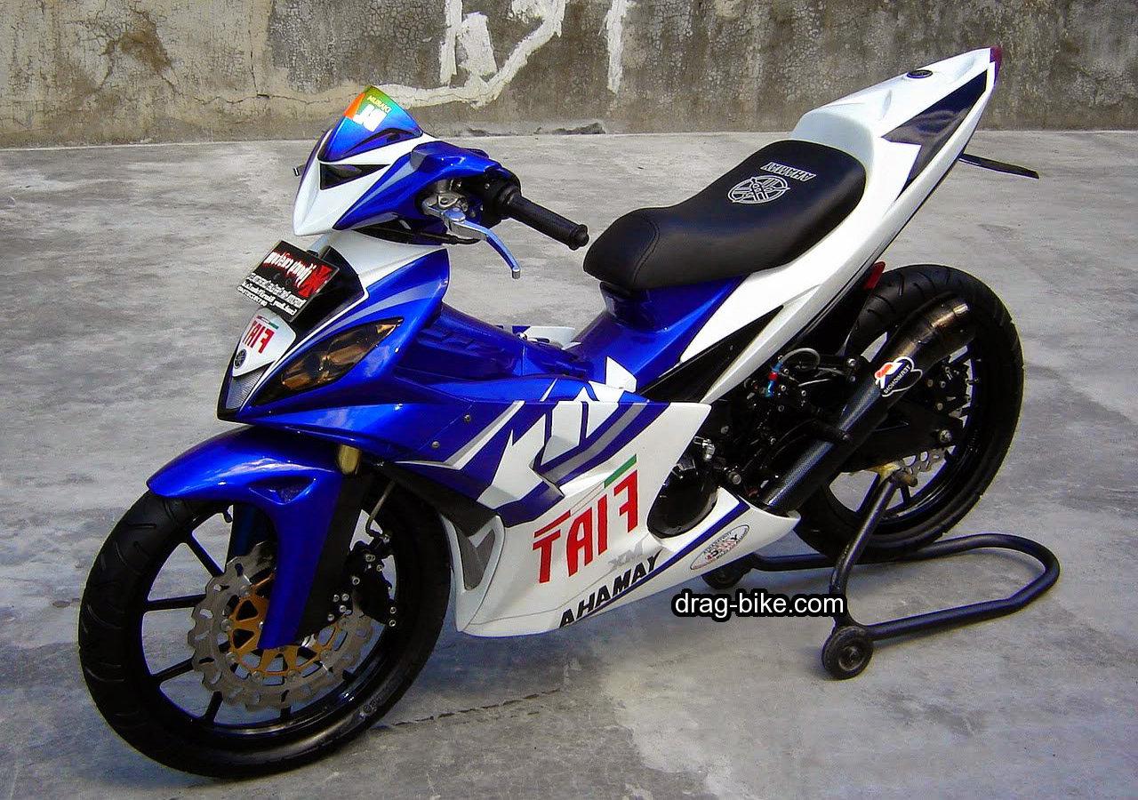 Foto gambar modifikasi motor yamaha jupiter mx tampilan for Yamaha drag bike